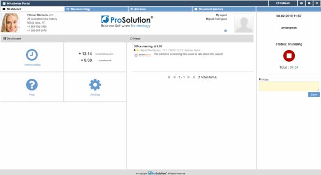 prosolution go web dashboard